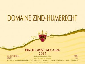 Pinot Gris calcaire 2013